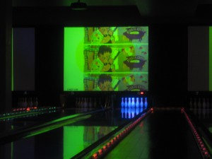Lucky Strike features 12 bowling lanes