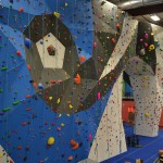 One of the main climbing walls