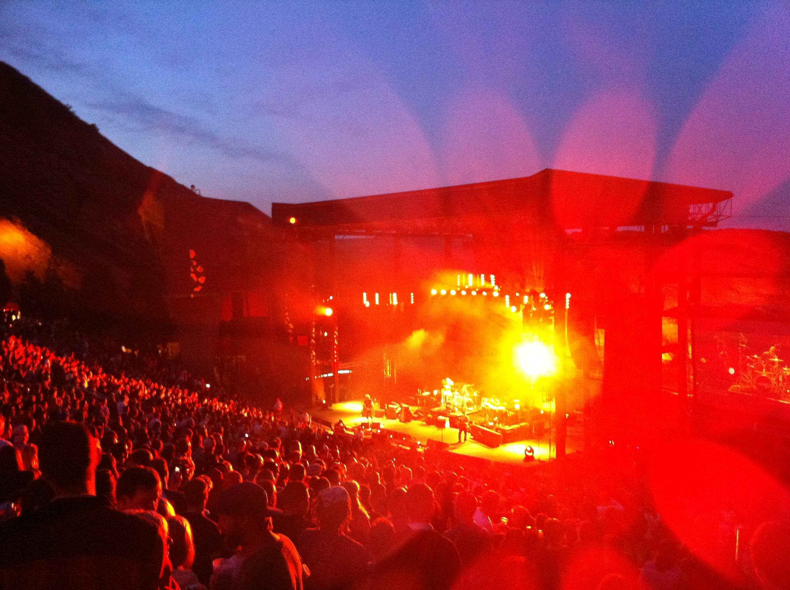 Dispatch plays a sold-out Red Rocks in 2011 (The Good Life Denver)