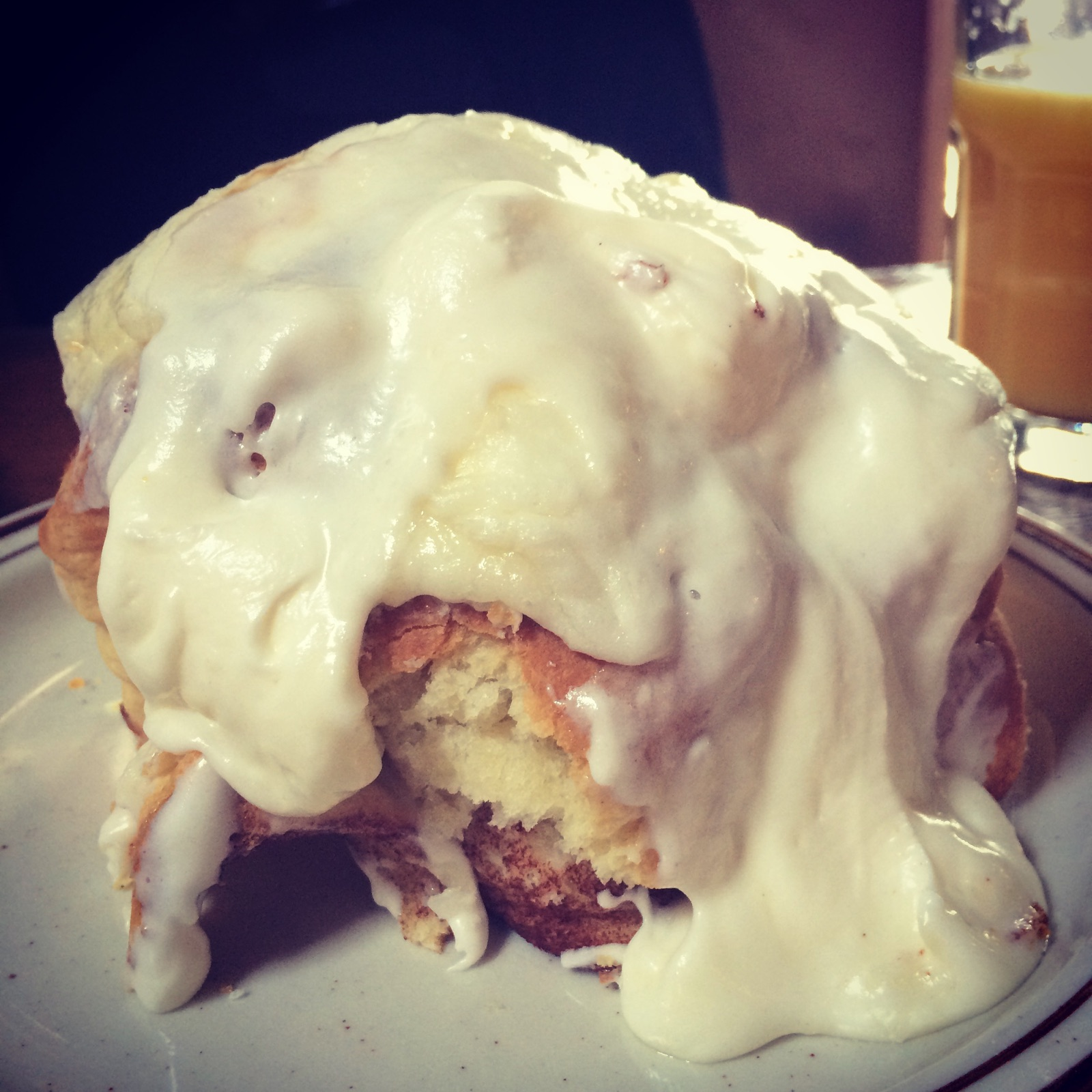 The biscuit cinnamon roll from Denver Biscuit Company (The Good Life Denver)