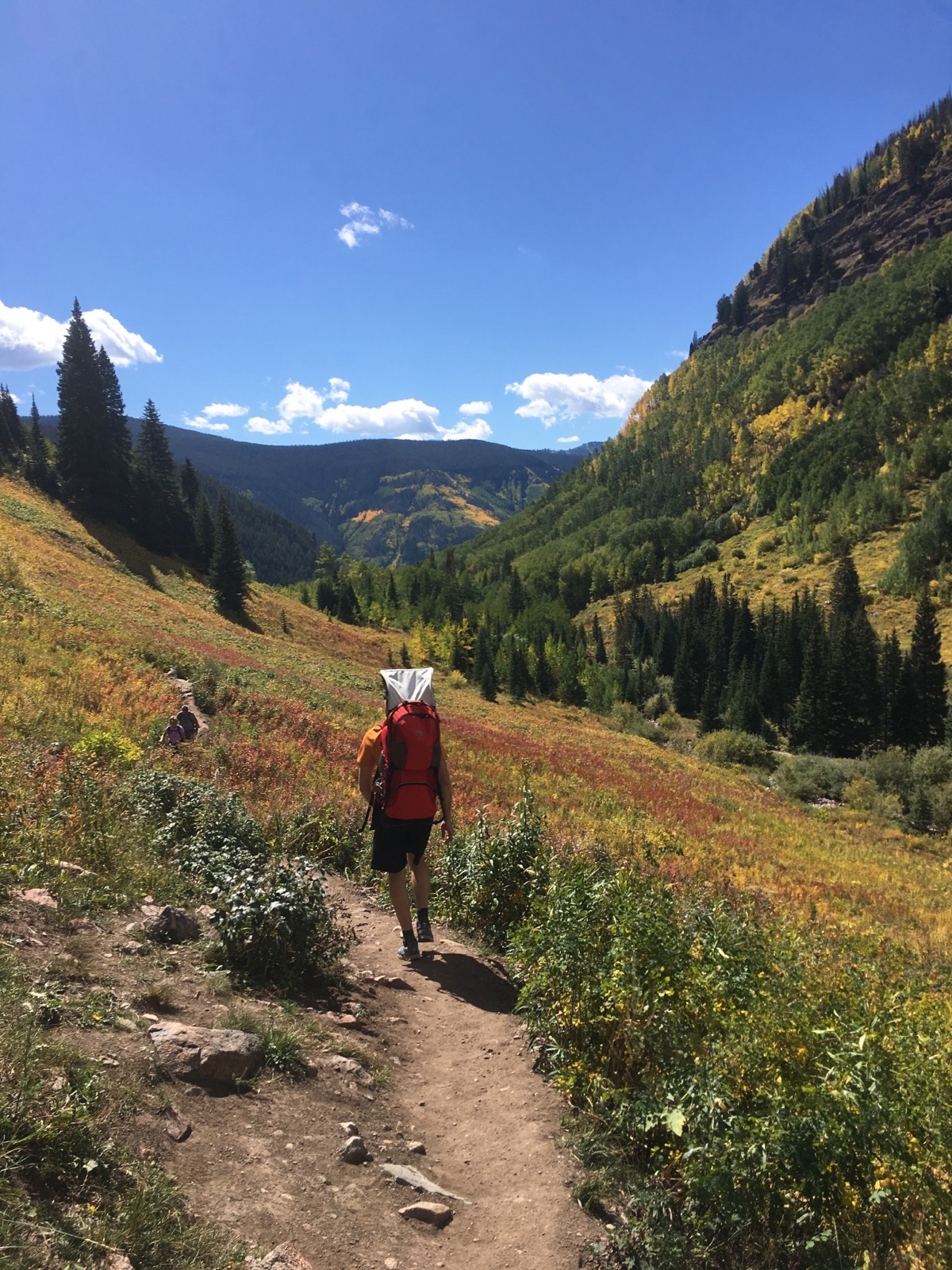 Hiking the Booth Falls Trail on September 16, 2016